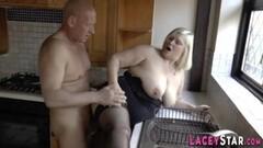 Naughty Blonde POV suck fuck and facial Thumb