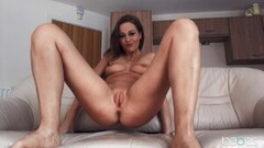 Cute Dicksucking euro beauty covered with spunk Thumb