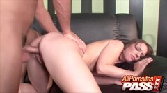 Asian babe gets double penetration in this super hot threeway Thumb