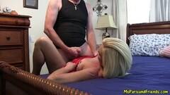 Cute UK nympho Gina Snake fed cock by maledom Thumb