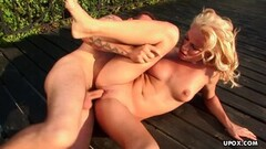 Hot Lesbian outdoor pussy tribbing on the pickup truck Thumb
