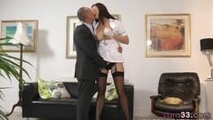 Sexy Ebony Tart Ashley Pink Sucks a Big Black Dick Before Taking It in Her Cunt Thumb
