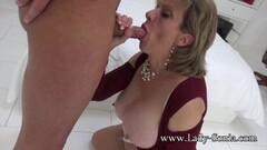 Cherry Morgan masturbates while in piledriver position Thumb