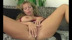 Blonde Miriam joins in with Lyn Stone giving Hot fuck Thumb