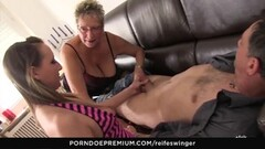 Super Horny Blondie Fucked By Father And Son Duo Thumb