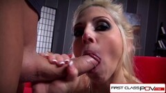 Laurie Vargas Swallows 4 Cumshots Thumb