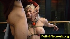 Blonde gets her pussy hammered Thumb