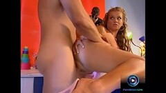 Skinny Blonde Teen plays with his balls Thumb