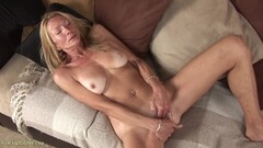 Pretty Melody goes naked to fuck herself in public Thumb