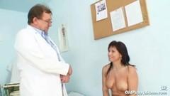 Mature Livie pussy examination by horny kinky gyno doctor Thumb