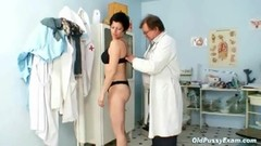 Old Barbora pussy real gyno fetish examination by doctor Thumb