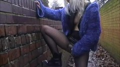 Kinky Sexy coed Chaos outdoor masturbation and blonde uni Thumb