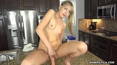 Naughty Solo blonde babe, Scarlett Sage is masturbating Thumb