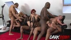 Frisky Wild Babes Enjoy Interracial Anal Orgy Thumb