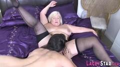 Kinky Lesbian gran licks milfs pussy in sixtynine Thumb