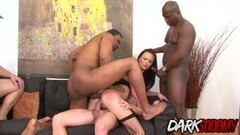 Interracial Double Penetration for horny Belle Claire Thumb