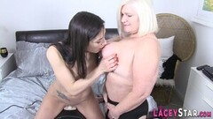 Kinky Lesbian gran eats out and fingerbangs muffle Thumb