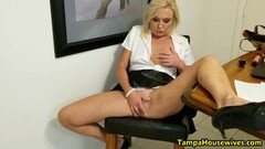 Kinky Ms Paris Stays WET and HORNY at Home and Work Thumb
