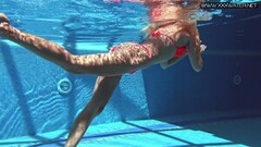 Naughty Mary Kalisy Russian babe in the swimming pool Thumb