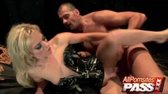 Naughty Latex Clad Blonde Angela Stone Hot Sex Thumb