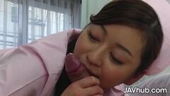 Horny Japanese nurse Maria Ono fucks her patient Thumb
