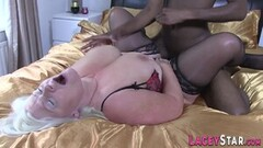Kinky Granny gobbles big black cock and gets banged Thumb
