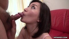 Japanese housewife, Ami Kikukawa sucks cock Thumb