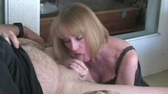 Dick Slurping With Mature Blonde GILF Thumb