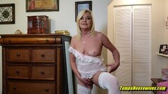 Frisky Aunt Paris Seduces Her Nephew with Lingerie Thumb