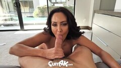 Steamy Heavy Pussy Cream OVER FLOW On Big Dick Thumb