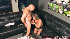 Naughty German Grandma Fucks Grandson with Old Big Boobs Thumb