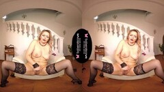 Hot Solo Blonde Woman, Nikky Dream Is Masturbating, in Vr Thumb