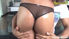 Sexy Oiled Latina Teen Sucks Big Cock On Cam Thumb