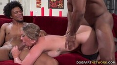 Naughty Busty Blonde Kayley Gunner Has Threesome Sex With BBC Thumb