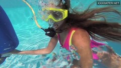 Naughty Cute Teen Irina Poplavok Swims Naked Underwater Thumb