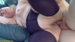 Kinky First Anal for 85 Years Old Mom Thumb