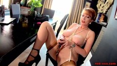Kinky Naughty Mature Red Puts on A Show for Her Accountant Thumb