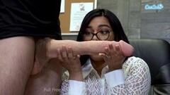 Hot Pornstar Tugs Monstrous Cock Thumb