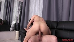 Russian casting leads to pussy creampie Thumb