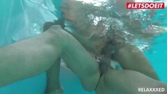 LETSDOEIT - Ferrera Gomez Smashed In the Pool By Big Cock Thumb