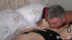 AgedLovE British Mature Fucked Roughly and Deep Thumb