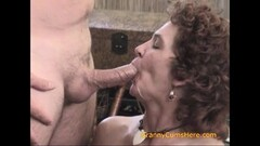 Stepsons cock cums inside stepmoms cougar pussy Thumb